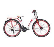 "S'Cool chiX 24 21-S alloy Kids, white/red 24"" 2019 Kinderfietsen 24 inch"