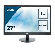 "AOC Value-line E2770SH LED display 68,6 cm (27"") Full HD Flat Mat Zwart"