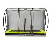 Exit Trampoline EXIT Toys Silhouette Ground Rectangular 366 x 244 Lime Safetynet