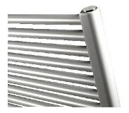 Vasco designradiator IRIS HDM, staal, traffic White, (hxlxd) 1734x450x34mm