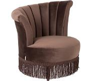 Dutchbone Flair - Fauteuil - Donkerbruin