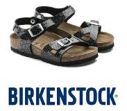 Birkenstock Rio Magic Snake Black-Silver Sandalen Kids