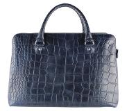 By Loulou 12BAG Vintage Croco Shopper - Dark Blue