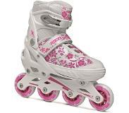 84185227a8d Roces Inline Skates Compy 8.0 Meisjes Wit/roze Maat 34-37