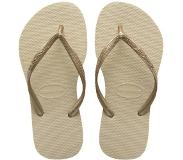 Havaianas Slim Slippers - maat 39/40 - dames - Sand Grey/L. Golden