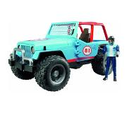 BRUDER Jeep Cross Country racer blauw van Bruder