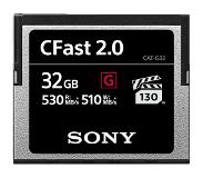 Sony CFast 32GB G-series 530mb/s geheugenkaart