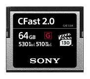 Sony CFast 64GB G-series 530mb/s geheugenkaart
