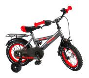 Volare Thombike Satin Grey Red 12 inch jongensfiets