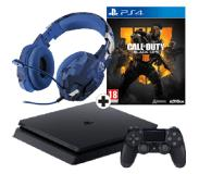 Sony PlayStation 4 500GB + CoD Black Ops 4 + Trust GXT 322B
