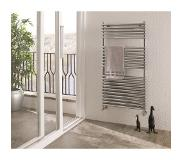 Eastbrook Biava Double Tube handdoek radiator 180x50cm Chroom 1095 watt