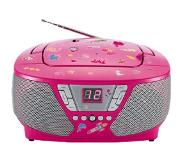 Bigben CD60 Kinder-CD-Radio met stickers (roze)