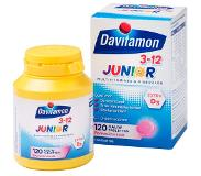 Davitamon Junior 3+ kauwvitamines - multivitamine kinderen - framboos - 120 stuks