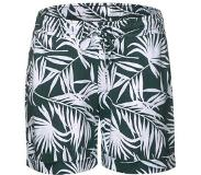 Street One straight fit short met bladprint groen/wit Groen/wit 38