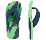 Oneill Slipper O'Neill Boys Imprint Pattern Green Aop w/ Blue-Schoenmaat 35