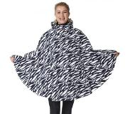 HappyRainyDays Poncho Happy Rainy Days Poncho Cape Marit Zebra Midnight Off White
