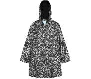 HappyRainyDays Poncho Happy Rainy Days Cape Bernice Cheetah Black Off White