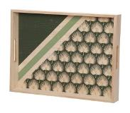 Cosy@home DIENBLAD PALM DONKERGROEN 40X30XH5CM HOUT