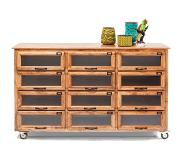 Kare design Dressoir Drugstore hout naturel 95 x 150 x 41