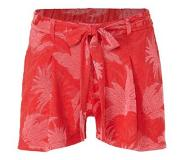 Eksept loose fit short met bladprint rood Rood L
