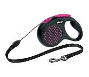 Flexi Rollijn Design - Cord Leash - M - Roze