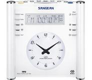 Sangean RCR-3, digitale klokradio, wit