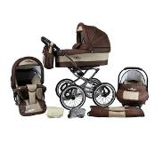 OTTO Bergsteiger combi-kinderwagen, 10-delig, »Venedig, coffee & brown, 3in1«
