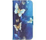 Smartphonehoesjes.nl Design Softcase Booktype Samung Galaxy A20e hoesje - Blauwe Vlinder