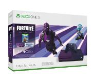 Microsoft Xbox One S + Fortnite Battle Royale Paars 1000 GB Wi-Fi