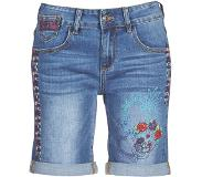 Desigual regular fit jeans short met printopdruk en borduursels Blauw 24