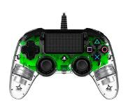 Nacon PlayStation 4 official wired compact LED controller groen Groen, Transparent