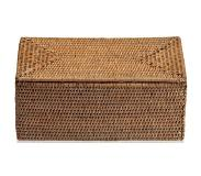 DECOR WALTHER Opbergbox Decor Walther Basket Met Deksel Rattan Donker