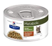 Hill's Pet Nutrition Hill's Prescription Diet Metabolic Stoofpotje 82 g blik kattenvoer 1 tray (24 blikken)