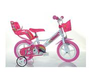 "Dino Bikes 124RL-UN fiets Stad 30,5 cm (12"") Staal Roze, Wit Dames"