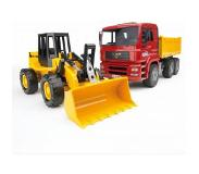 BRUDER Construction truck with articulated road loader speelgoedvoertuig