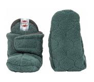 Lodger Babysloffen Lodger Slipper Fleece Botanimal Sage-6 - 12 maanden