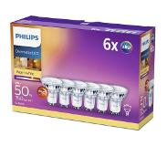 Philips Sixpack GU10 50W WW 36D WGD 6ct/4