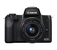 Canon EOS M50 + 15-45mm zwart Peter Hadley Kit