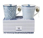 Laura Ashley Blueprint Collectables Laura Ashley mok (set van 2) Blauw/wit