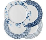 Laura Ashley Blueprint Collectables Laura Ashley dinerbord (Ø26 cm) (set van 4) Blauw/wit