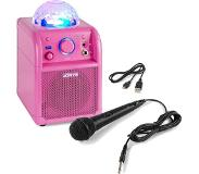 VONYX SBS50 Bluetooth party speaker met LED roze