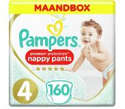 Pampers Premium Protection Pants maandbox maat 4 (9kg-15 kg) 160 luierbroekjes
