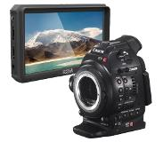 "Canon EOS C100 DAF (dual pixel focus upgrade) body + Pixel Maker M5 5"" monitor"