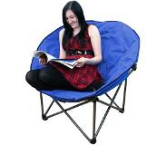 Highlander Luxury Padded Moon Chair campingstoel Kleur: blauw