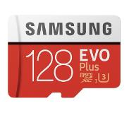 Samsung microSDXC Evo+ 128 GB 100MB/s CL 10 + SD adapter