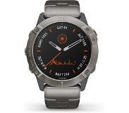 Garmin 010-02157-24 Fenix 6X Multisport GPS Smartwatch titanium, Solar en Power Glass