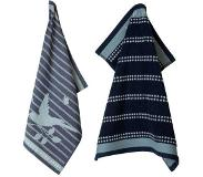 Laura Ashley Heritage Laura Ashley thee- en keukendoek set Donkerblauw