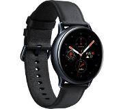 Samsung Refurbished Samsung Galaxy Watch Active2 40 mm Edelstahlgehäuse schwarz am Lederarmband black [Wi-Fi] - Conditie: Als nieuw