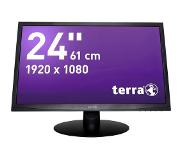 Wortmann AG LED 2412W LED-monitor 61 cm (24 inch) 1920 x 1080 pix Full HD 5 ms DVI, VGA, Audio-Line-in TN LED