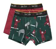 Ten Cate shorts Sloths green and brick red 2 pack maat 122/128